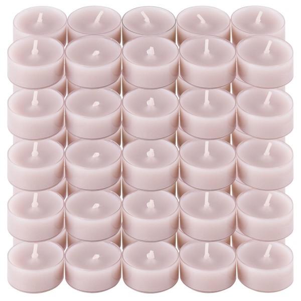 50er Set Teelichter PC Cup-Lichter Kiesel Brenndauer ca. 4h Größe 2x3,5 cm
