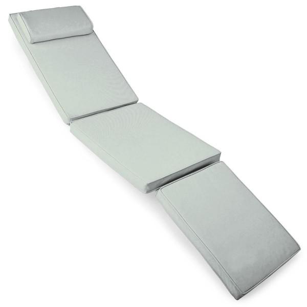 DIVERO Liegenauflage für Deckchair Steamer Liegestuhl-Auflage B-Ware grau