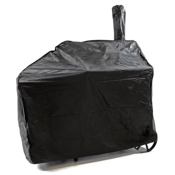 Schutzhülle für Smoker Wetterschutz Plane Grillhaube 120g/PVC 120x65 cm schwarz