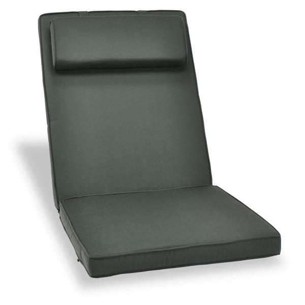 DIVERO Sitzauflage Stuhlauflage Polster Gartenstuhl Klappstuhl anthrazit