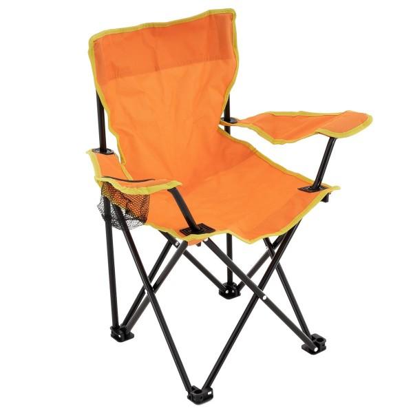 Kinder Campingstuhl Faltstuhl Angelstuhl mit Getränkehalter Tasche stabil orange