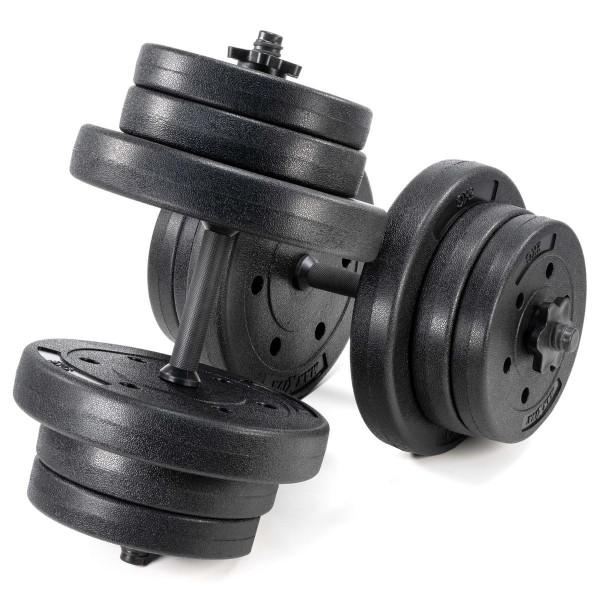 MAXXIVA Kurzhantel Set Zement 2x20kg 12 Gewichte schwarz Sternverschlüsse