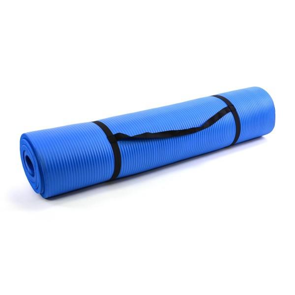 Yogamatte Gymnastikmatte Fitnessmatte 190 x 102 x 1,5 cm blau schadstofffrei