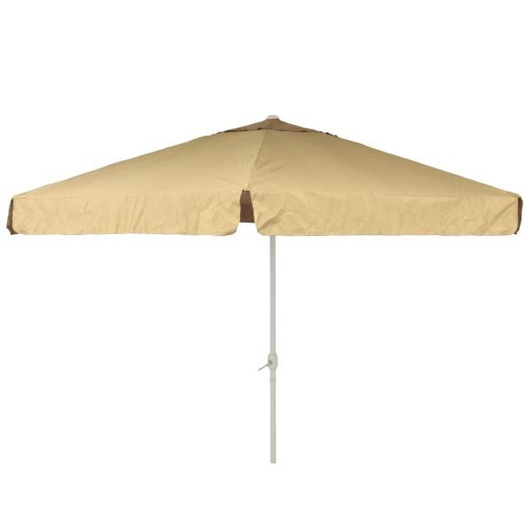 Sonnenschirm Marktschirm Ø 3,80m sand, beige mit Kurbel Alu Gestell Sonnenschutz