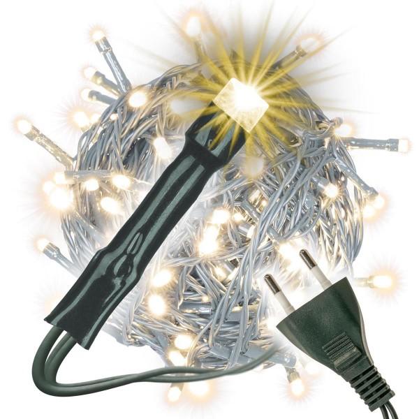 Lichterkette 200 LED warm weiß Partybeleuchtung Weihnachtsbaumbeleuchtung