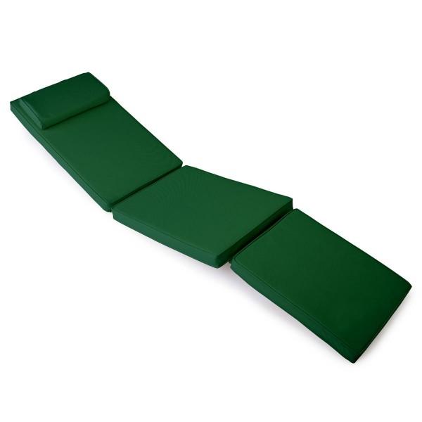 DIVERO Liegenauflage für Deckchair Steamer Liegestuhl-Auflage Polster grün