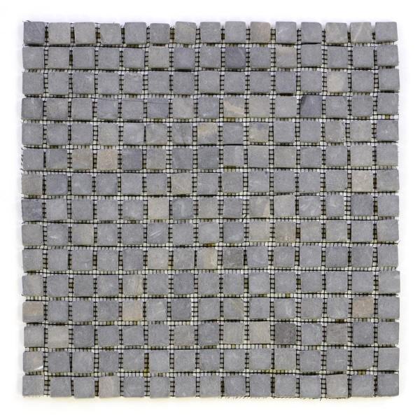 DIVERO 1 Fliesenmatte Naturstein Mosaik aus Marmor grau 30 x 30 cm