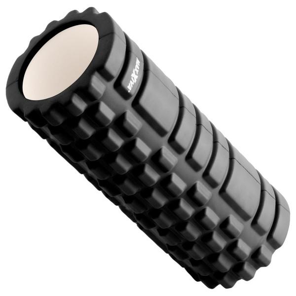 MAXXIVA Massagerolle schwarz 33x14 cm Faszienrolle Trainings-Rolle Fitness