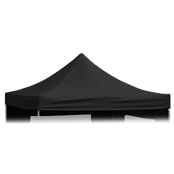 Ersatzdach für Falt-Pavillon 3x3m schwarz wasserdicht 270g/m² Dachplane