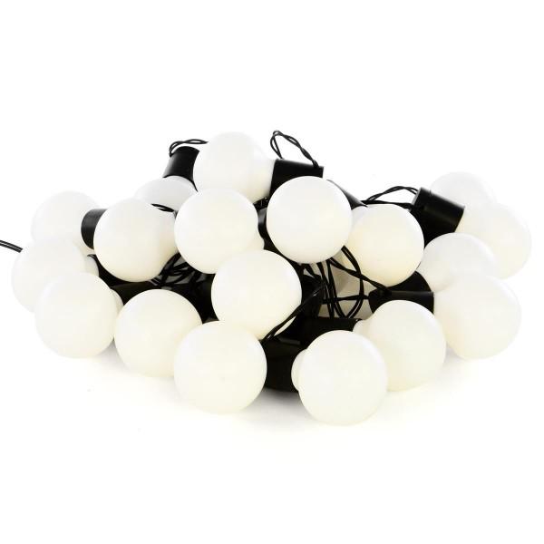 LED Partylichterkette mit 20 Kugeln warm weiß 5 cm Partybeleuchtung Lichterkette