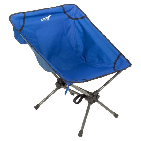 Ultraleichter faltbarer Campingsessel Campingstuhl Angelsitz königsblau