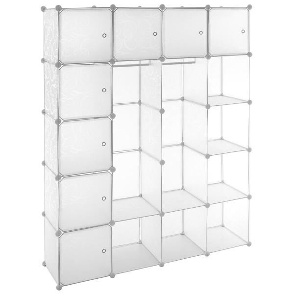 Kleiderschrank Garderobenschrank Steckregalsystem 178x145x37cm transparent