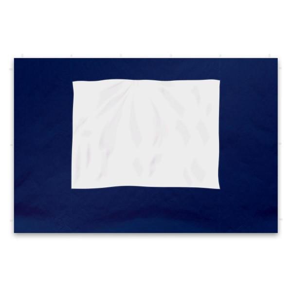 2 Seitenteile für PROFI Falt Pavillon Faltpavillon blau mit Fenster PE PA-coated