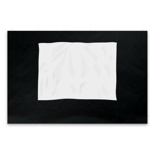 2 Seitenteile für PROFI Falt Pavillon Faltpavillon schwarz mit Fenster Polyester