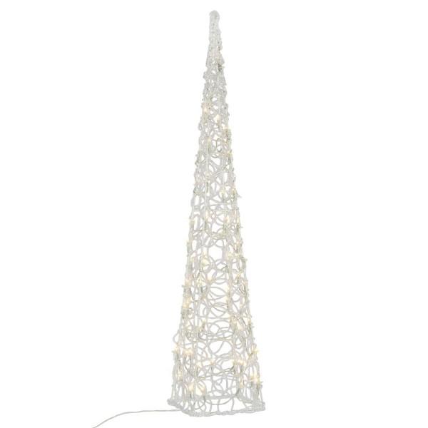 Lichterkegel Acryl Pyramide Aussen 60er LED warmweiß 90 cm Trafo Timer Xmas