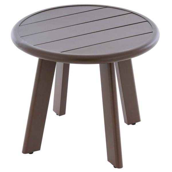 Beistell-Tisch Aluminium Farbe dunkel-braun Terrassentisch Veranda-Tisch 52,5 cm