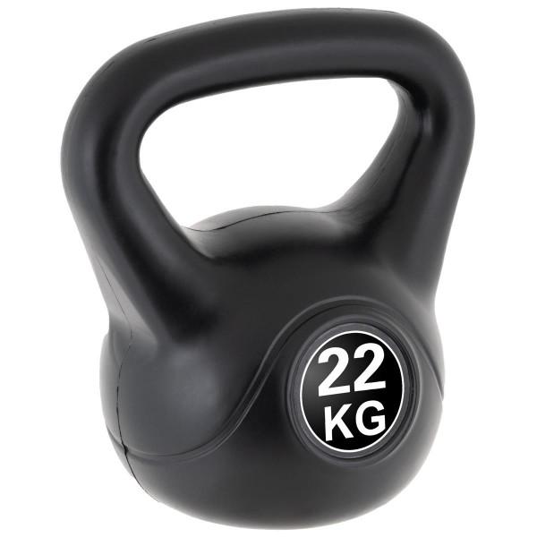 MAXXIVA Kettlebell Kugelhantel 22kg schwarz Krafttraining Fitness Rundhantel