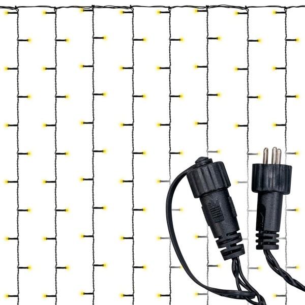 diLED 200er LED Lichtervorhang warmweiß erweiterbar Lichterkette System LED