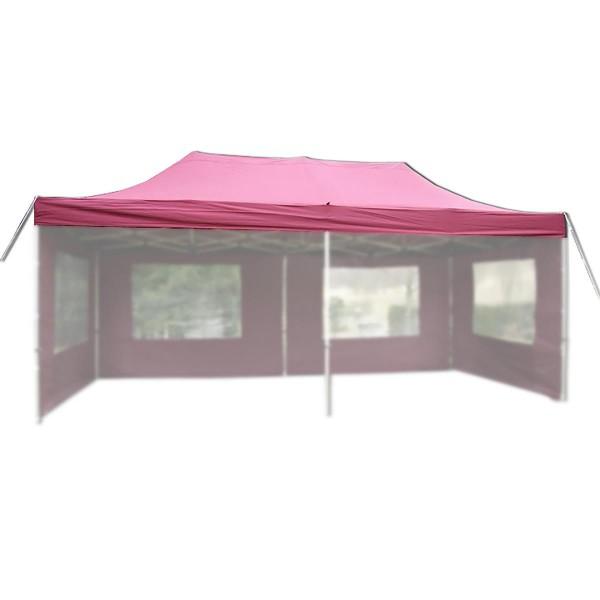 Ersatzdach für PROFI Falt Pavillon 3x6m burgund wasserdicht Dachplane Zeltdach