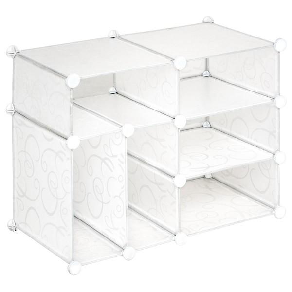 Schuhschrank Steckregal transparent 57x71x37cm erweiterbar Schuhregal DIY