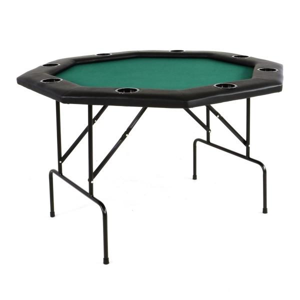 Profi Casino Pokertisch klappbar 8-eckig 120 x 120 cm Höhe 76cm mit Armauflagen