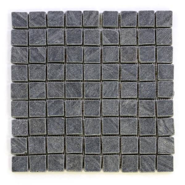 DIVERO 1 Fliesenmatte Naturstein Mosaik aus Andesit anthrazit grau 29x29cm