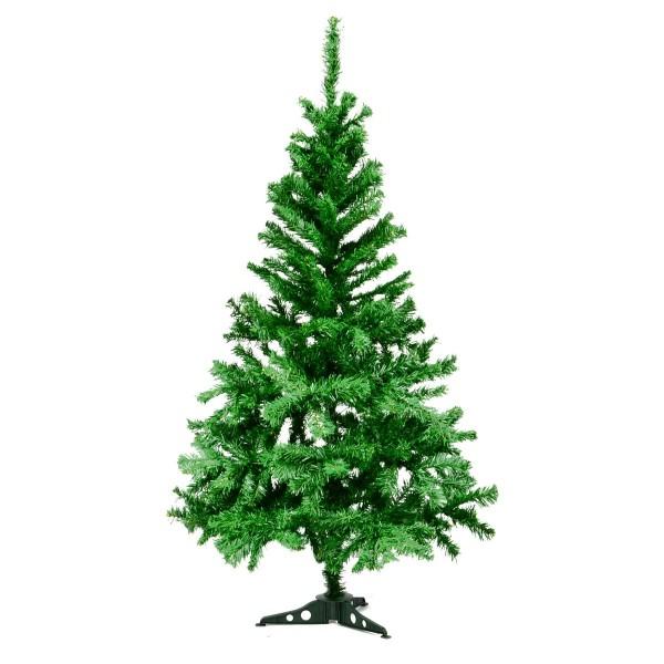 künstlicher Weihnachtsbaum grün Christbaum 150 cm 412 Spitzen mit Ständer Tanne