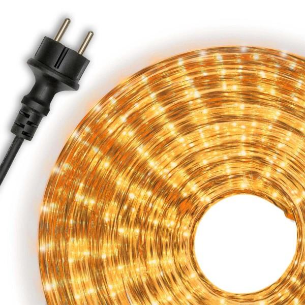 Lichterschlauch Lichtschlauch gelb 20m Lichterkette Partybeleuchtung Weihnachten