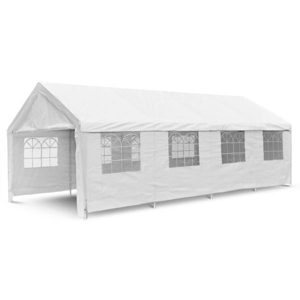 Festzelt Partyzelt Bierzelt weiß 4x8 m PE Dach 180 g/m² wasserdicht Stahlrohre