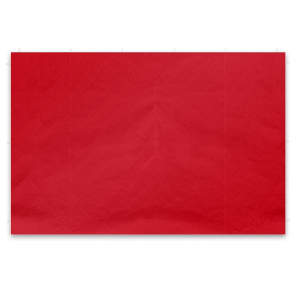 2 Seitenteile für PROFI Falt Pavillon ohne Fenster rot PE PA-coated Seitenwand