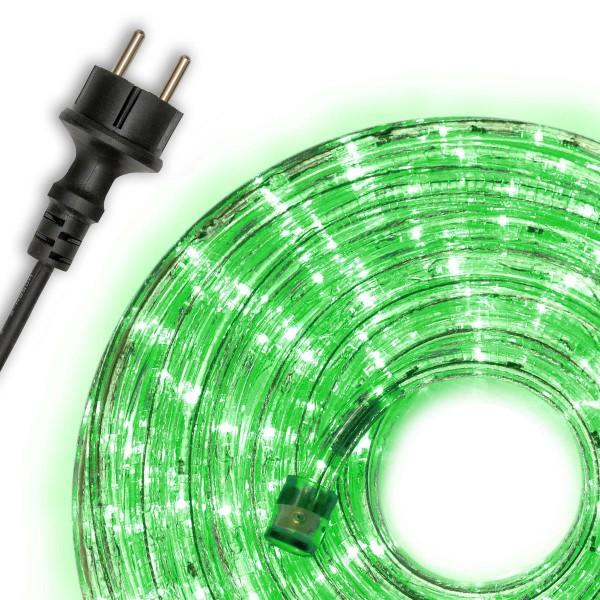 10m LED Lichtschlauch Lichterschlauch grün Innen Außen Weihnachten