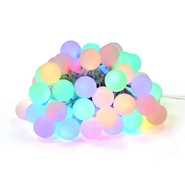 LED Partylichterkette mit 50 Kugeln bunt 2,5cm Partybeleuchtung Lichterkette