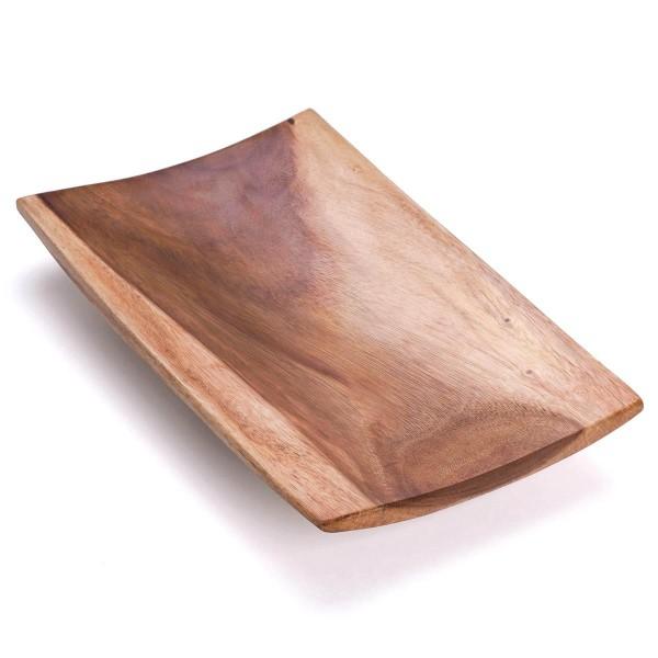 Handgemachte Holzschale Dekoschale Obstschale Schale aus Suar Holz 46 x 28 cm