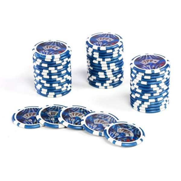 50 Poker-Chips Wert 50 Laserchip 12g Metallkern OCEAN-CHAMPION-CHIP abgerundet