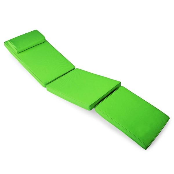 DIVERO Liegenauflage Auflage Polster Deckchair Steamer Gartenliege hellgrün