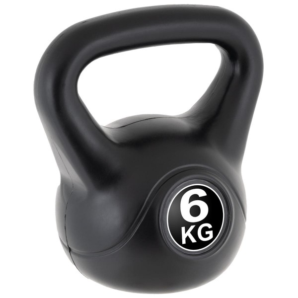 MAXXIVA Kettlebell Kugelhantel 6kg schwarz Krafttraining Fitness Rundhantel