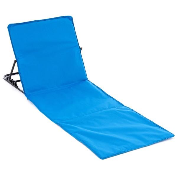 Strandmatte Beachmatte gepolstert faltbar verstellbare Rückenlehne blau