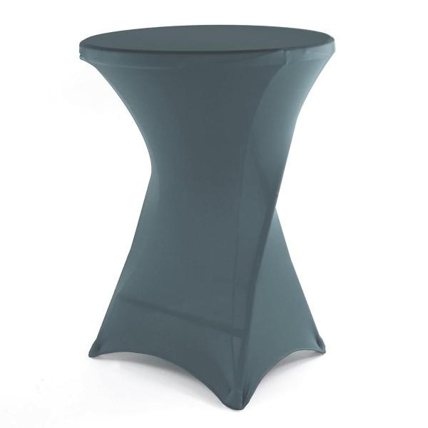 Husse für Stehtisch Stretchhusse Tischschutz Stoffbezug 80x80x110 cm anthrazit