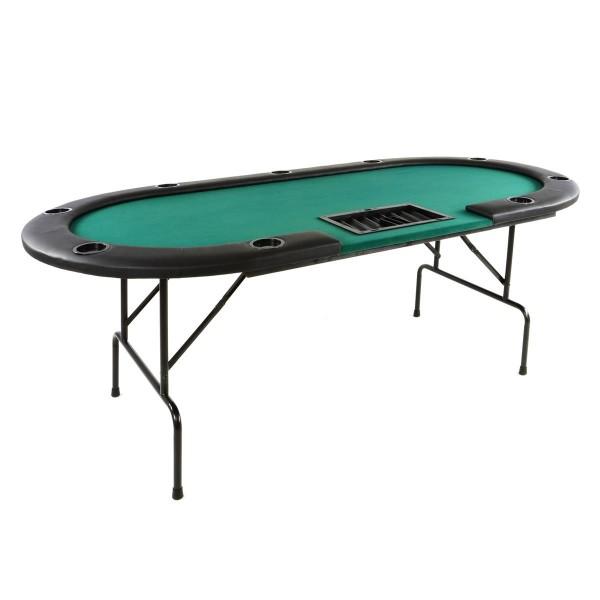 Deluxe Casino Pokertisch klappbar L 215 x B 113 x H 79 cm 10 Spieler Armlehnen