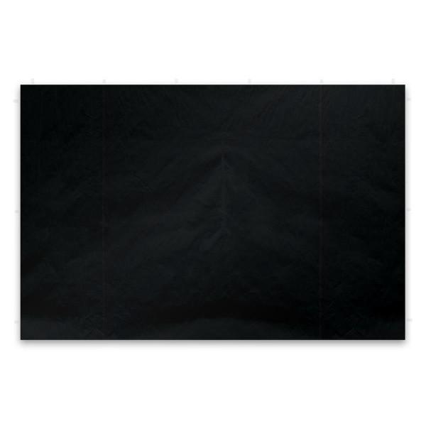2 Seitenteile für PROFI Falt Pavillon ohne Fenster schwarz PE PA-coated Plane