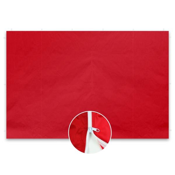 2 Seitenteile ohne Fenster für PROFI Falt Pavillon 3 x3 m rot PE Reißverschluss