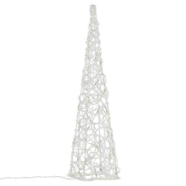 Lichterkegel Acryl 30 LED beleuchtete Pyramide Lichtpyramide weiß 60 cm Timer