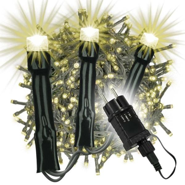 2000 LED Büschellichterkette Cluster warm weiß Trafo Timer Lichterkette Xmas