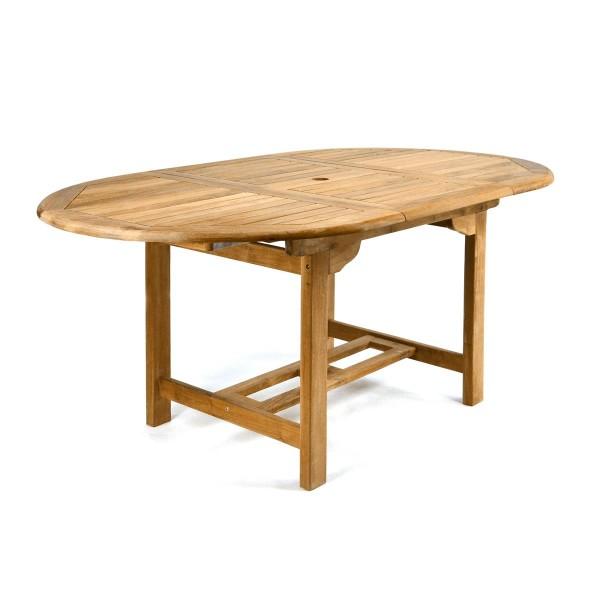 DIVERO Gartentisch Esstisch Tisch ausziehbar 170cm Teak Holz behandelt