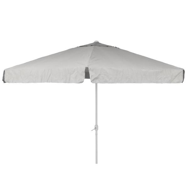 Sonnenschirm Marktschirm Ø 3,80m weiß mit Kurbel Alu Gestell Sonnenschutz