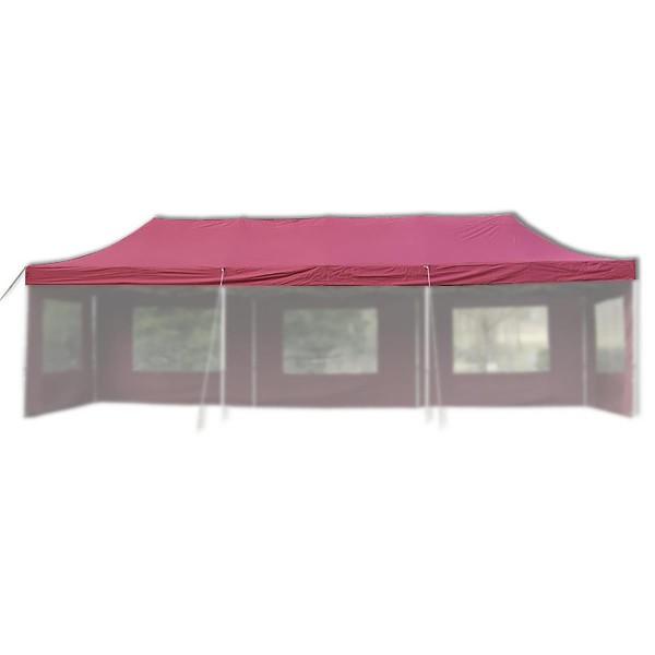 Ersatzdach für PROFI Falt Pavillon 3x9m burgund wasserdicht Pavillondach