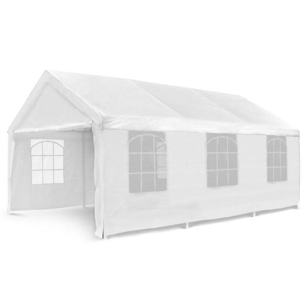 Hochwertiges Festzelt Partyzelt Bierzelt Gartenzelt Pavillon weiß 4x6 m PE Stahl