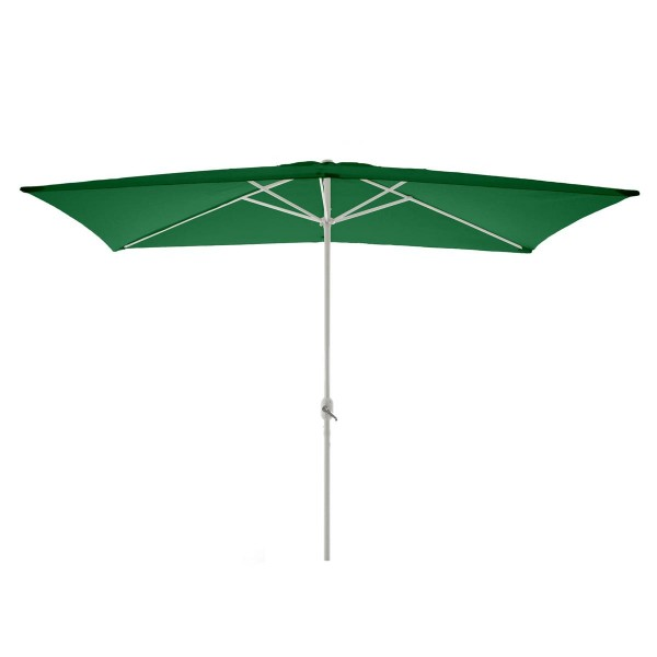 Sonnenschirm eckig 2x3m grün mit Kurbel Marktschirm Rechteckschirm Sonnenschutz