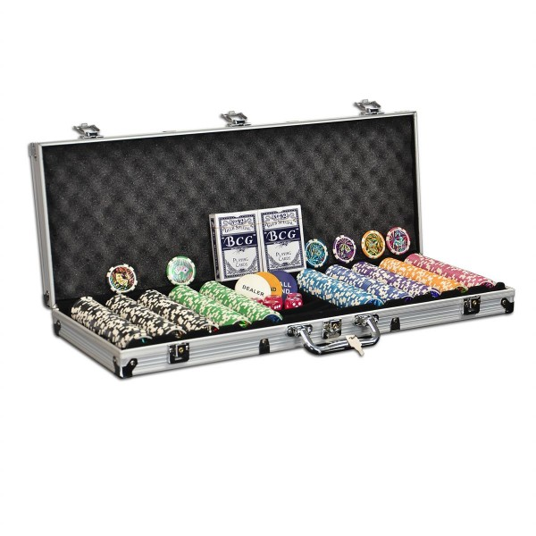 Pokerkoffer 500 Pokerchips abgerundet OCEAN CHAMPION CHIP Pokerset