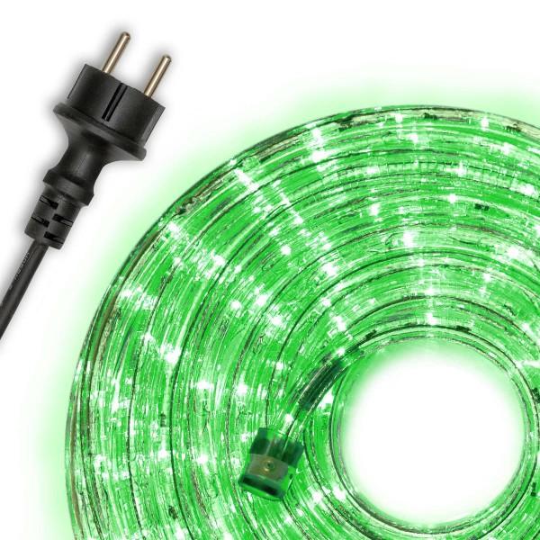20m LED Lichtschlauch Lichterschlauch grün Innen Außen Weihnachten